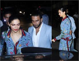 deepika padukone wear night suit at dinner date