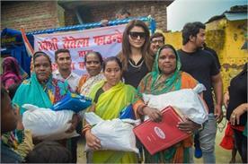 actress urvashi rautela visit in nature disaster place in uttarakhand