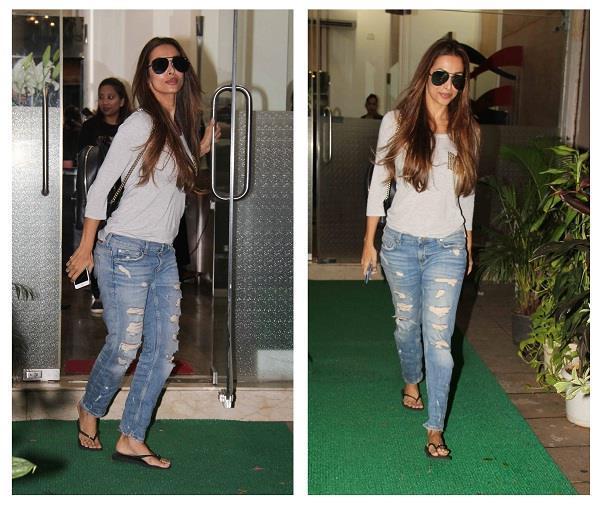 malaika arora khan looks stylish as ever outside a salon