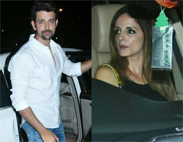 hrithik spotted with ex wife susanne khan