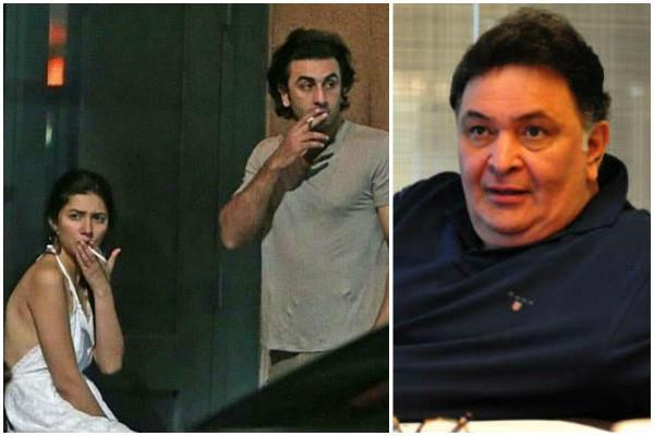 rishi kapoor reaction on ranbir mahira khan viral pictures