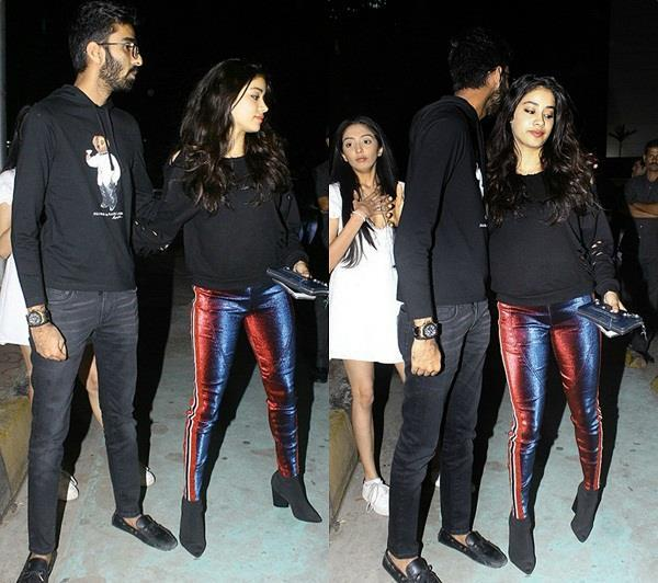 janhvi kapoor spotted with mystery boy