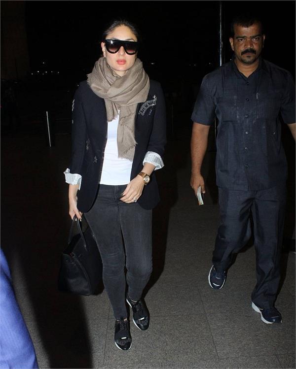 kareena  s latest airport look is perfect for winter season