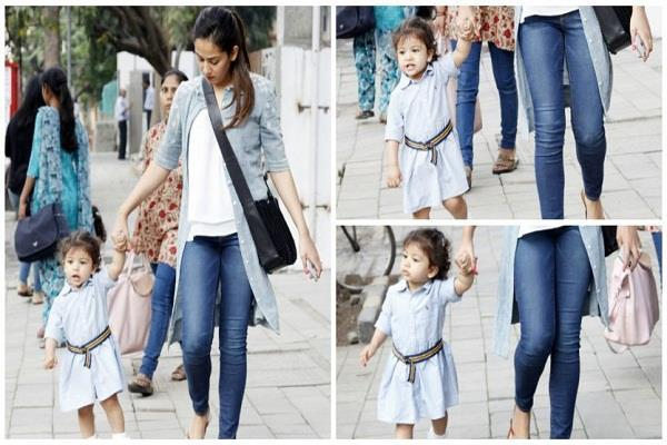 misha kapoor walks like a boss after her play school