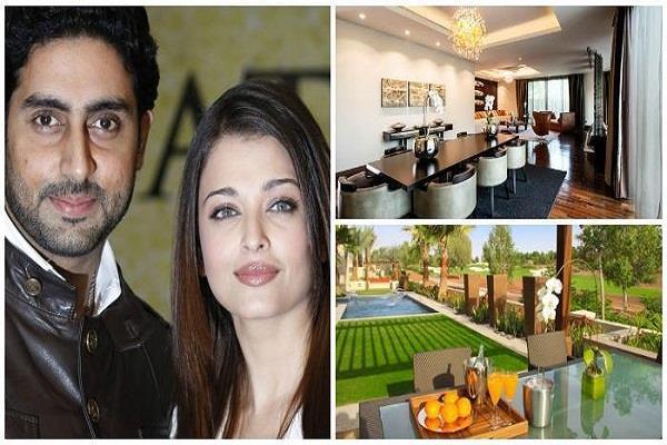 abhishek bachchan and aishwarya rai bachchans new home inside pictures