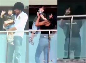 पहली बार कैमरे के सामने खुश दिखे शाहरुख के लाडले अबराम, बहन सुहाना गोद में उठा कर ले गईं अंदर