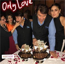 नानू रणधीर कपूर के बर्थडे केक पर तैमूर ने लिखा प्यारा मैसेज, देखें तस्वीरें