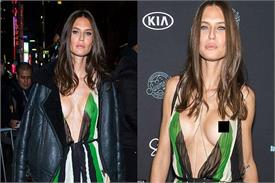 bianca balti braless under sheer dress