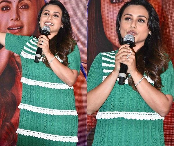 rani mukherji launched hichki song in her school