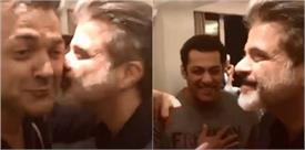 बॉबी देओल को अनिल कपूर ने सरेआम किया Kiss, देखकर शरमा गए सलमान खान