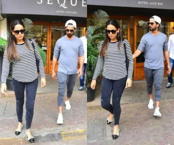 shahid kapoor with mira kapoor spotted at bandra