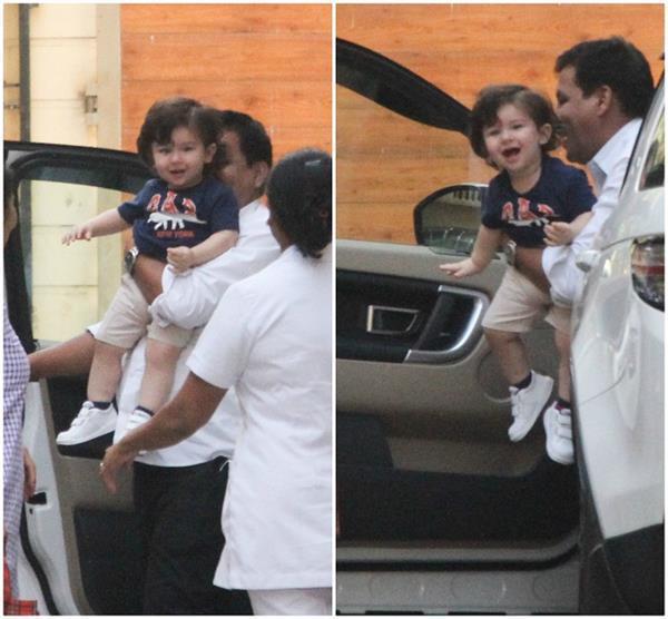 kareena kapoor khan s son taimur ali khan looks excited