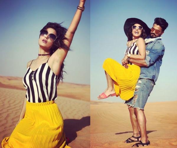 hina khan and rocky jaiswal latest pictures