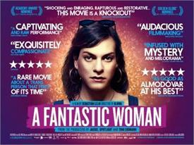 फिल्म 'ए फैनटास्टिक वूमन' को मिला विदेशी भाषा की बेस्ट फिल्म का अवॉर्ड