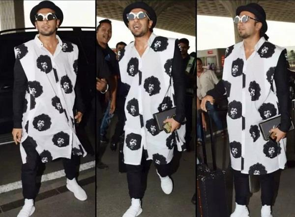 ranveer singh spotted at airport