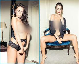 towie newbie clelia theodorou goes topless