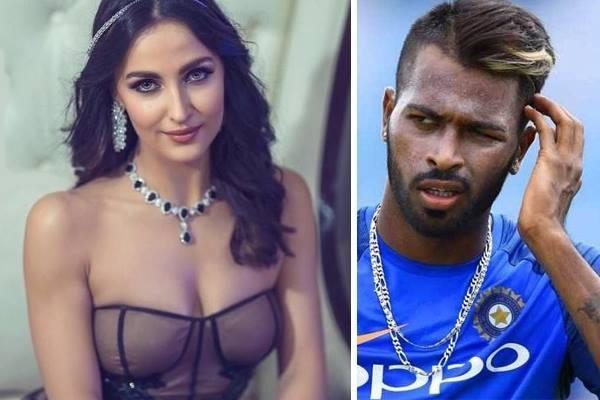 harrdik pandya meet with elli avram at mumbai airport