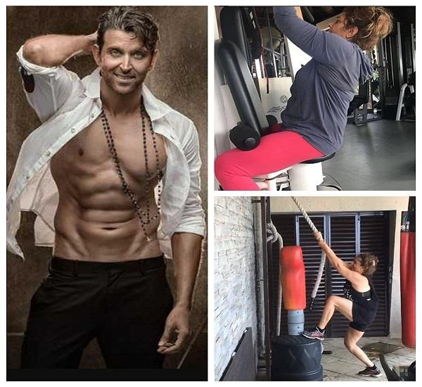 hrithik roshan shares his mom pinky roshan workout