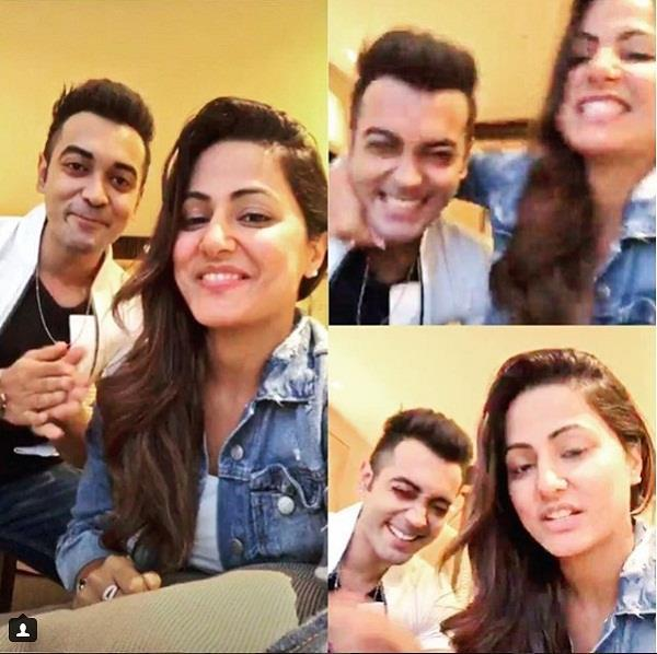 hina khan and luv tyagi viral pictures or video on instagram