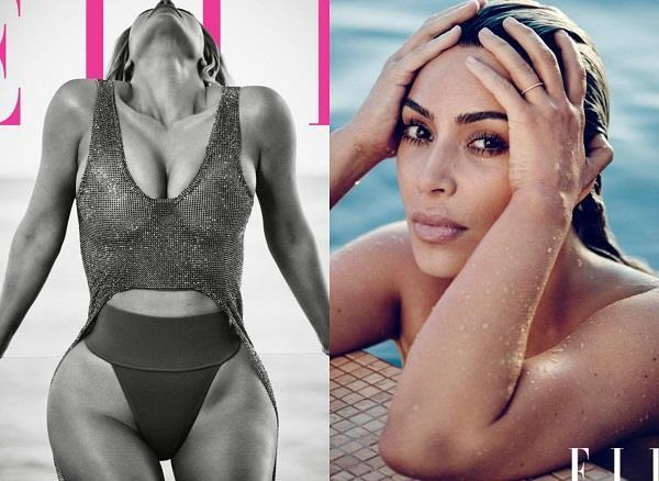 kim kardashian elle magazine photoshoot pictures