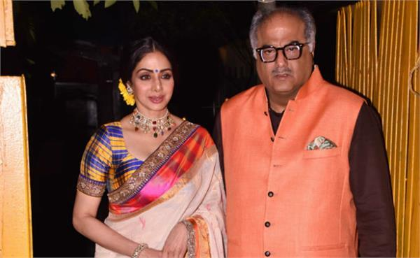 sri devi at javed akhtar and shabana azmi diwali party 2017