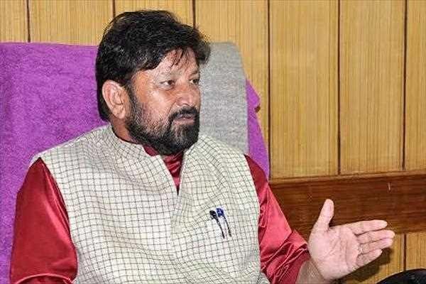 former bjp minister lal singh s rebel statement