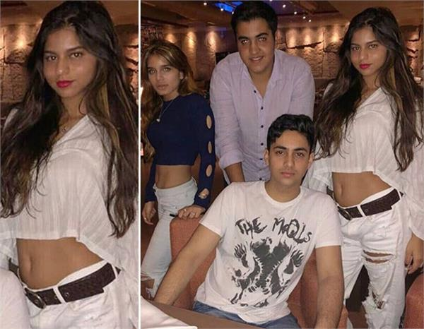 suhana khan with amitabh bachchan grandson at dinner date