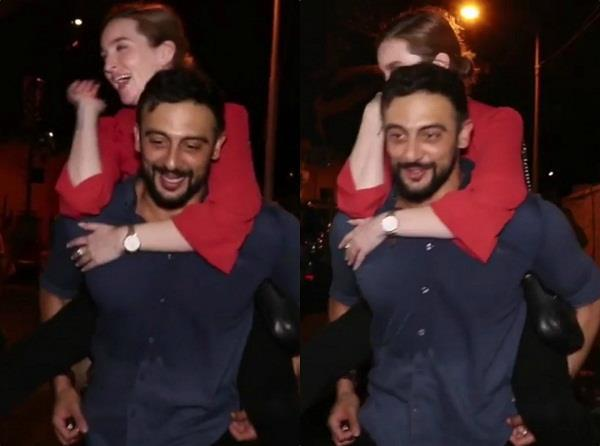 arunoday singh wife lee elton return from party video viral