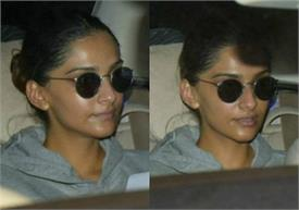 sonam kapoor spotted at juhu