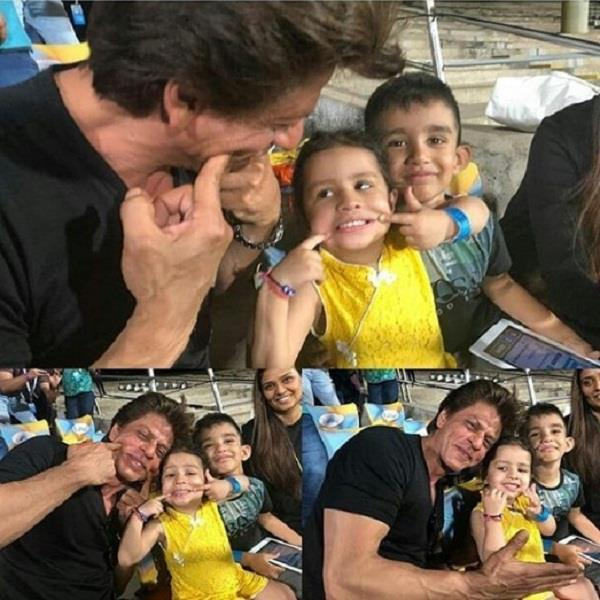 shahrukh khan and ms dhoni daughter ziva picture viral