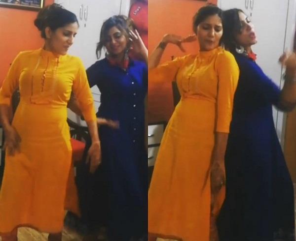 sapna choudhary and arshi khan viral dance video