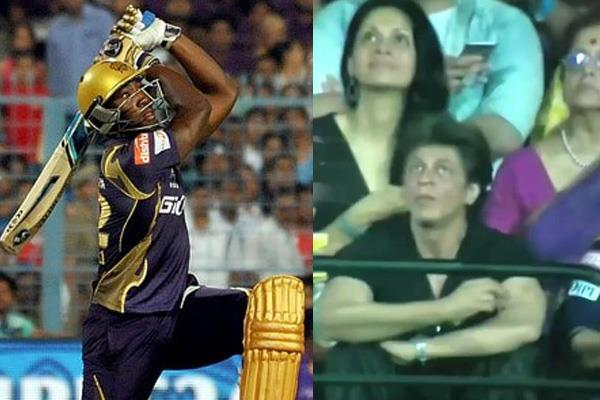 shahrukh reaction on andre russell 105 meter six
