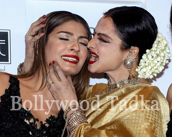rekha kiss to raveena tondon
