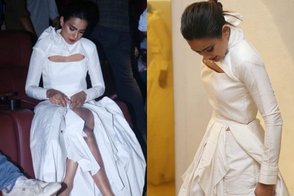nia sharma looks uncomfortable in dress