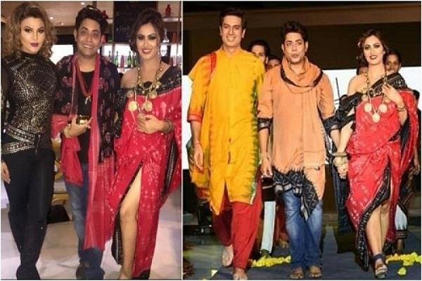 arshi khan sabyasachi at ramp with rakhi
