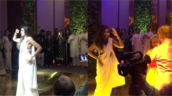 amitabh bachchan daughter shweta viral dance video pallo latke sara ali khan