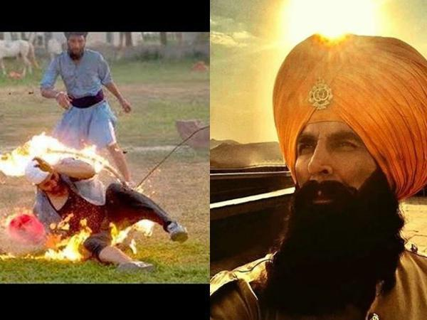 akshay kumars movie kesari massive fire burns down the sets of movie