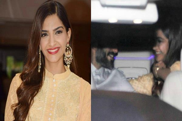 sonam kapoor anand ahuja spotted at airport
