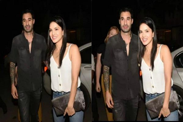 sunny leone with husband daniel weber spotted at juhu