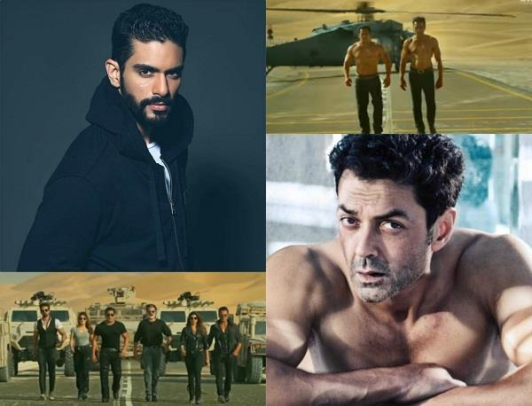 angad bedi reaction over bobby deol body