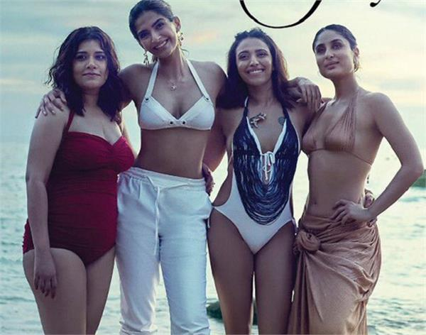 girls gang are in a perfect touristy mood at veere di wedding new poster