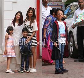 शिल्पा शेट्टी के बेटे की B'day पार्टी में बेटी आराध्या संग पहुंची एेशवर्या, ये स्टार किड्स भी दिखे