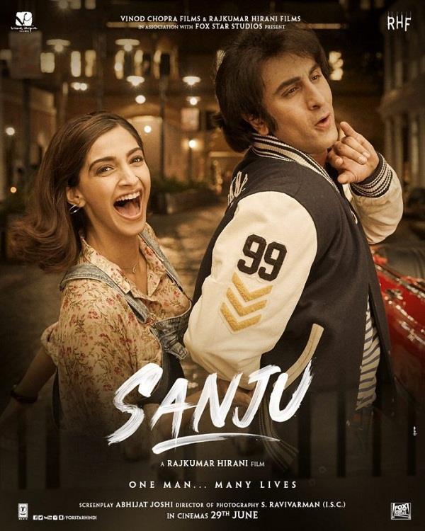 sanju poster ranbir kapoor sonam kapoor picture