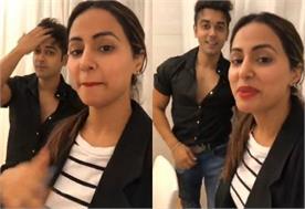 hina khan met with luv tyaagi live at fb