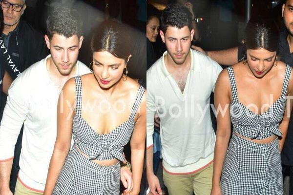priyanka chopra and nick jonas spotted at mumbai for dinner