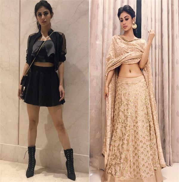 stylish look of tv actress mouni roy
