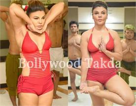 rakhi sawant doing hot yoga on international yoga day