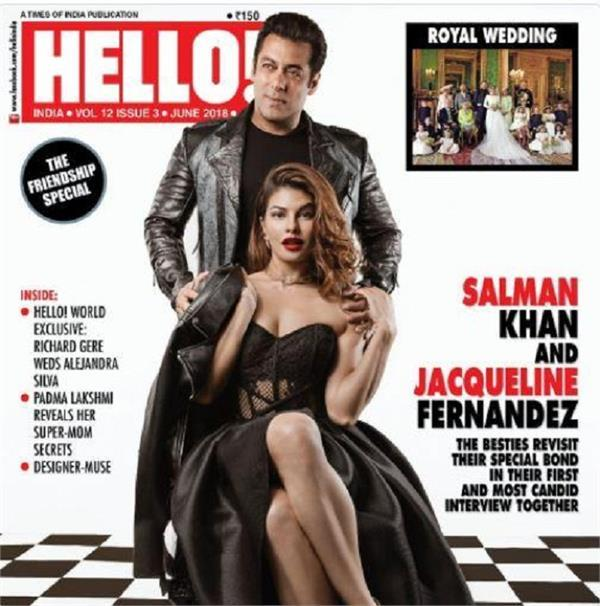 salman khan and jacqueline fernandez s photoshoot for hello india magazin