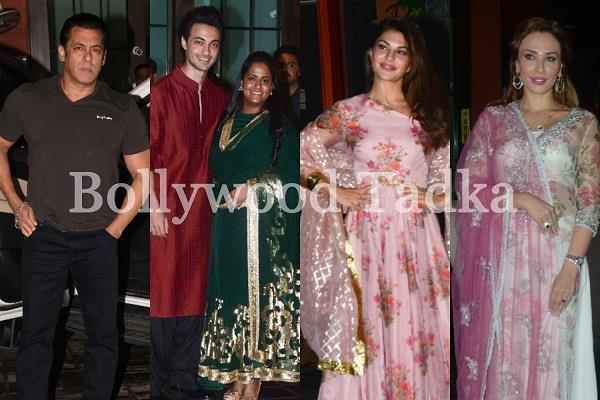 arpita khan throw eid party at her own house