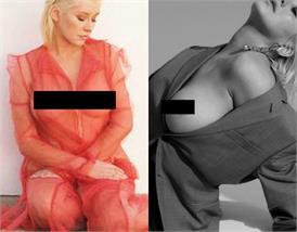 क्रिस्टीना एगुइलेरा ने नेट ड्रेस पहन करवाया बोल्ड फोटोशूट, तस्वीरों में साफ नजर प्राइवेट पार्टस